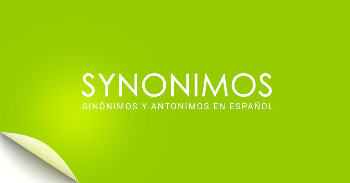 Sinonimos Diccionario De Sinónimos En Español